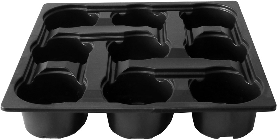 9cm Linked round pot carry tray